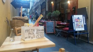 Illia Pasta, in the Old Nice narrow streets...