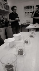 The moment of the cupping coffee course