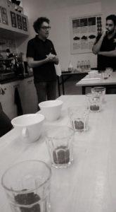 E il momento del corso di assaggio caffè!