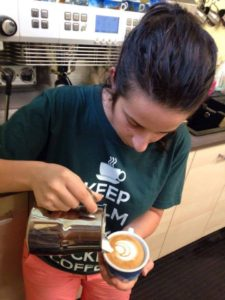 Helena Oliviero, la trainer della Espresso Academy...