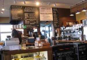 Un coffee shop bio a Port Townsend, negli Stati Uniti.
