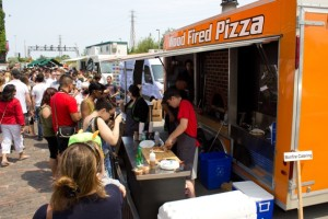 "Un ""pizza street food"" Americano"