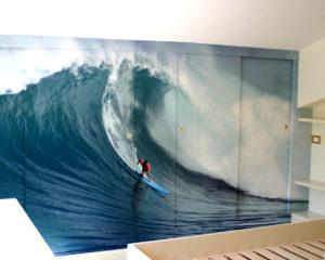 La vedete come parete del vostro bar?