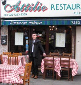 il classico ristorante italiano in Inghilterra