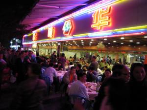 Un ristorante nella metropoli cinese di Shenzhen