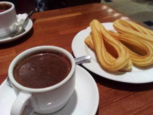 La cioccolata spagnola con i churros...