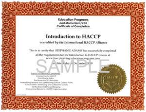Chi deve fare l'HACCP per lavorare al bar? Anche gli inglesi, come vediamo da questo certificato.