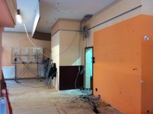La struttura all'inizio dei lavori.