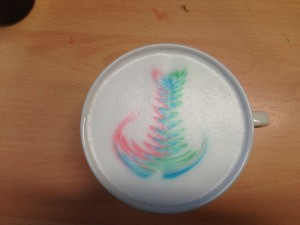 The rainbow cappuccino!