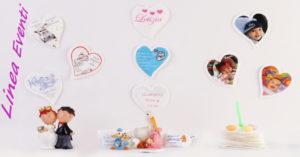 Le bustine di zucchero da bar a forma di cuore