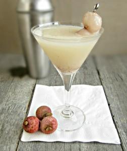 Il cocktail lychee martini.