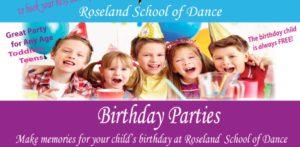 Anche in questa scuola di danza americana organizzano compleanni per bambini!