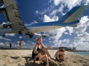 Gli atterraggi all'aeroporto di St Marteen