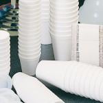Bicchieri da espresso in polisitirolo.