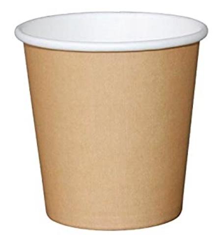 Un classico bicchiere per il cappuccino da asporto riciclabile