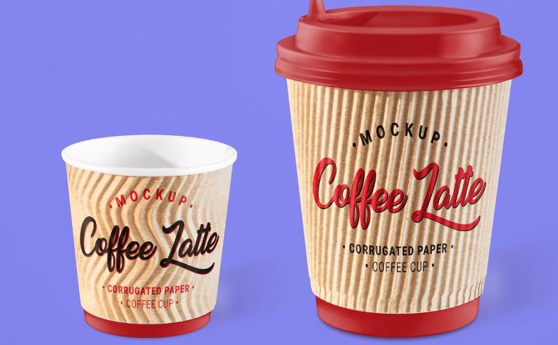 Bicchieri da caffè da asporto in cartone corrugato o ondulato
