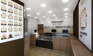 Un punto vendita Capatoast (dal sito soluzioniitalia.it