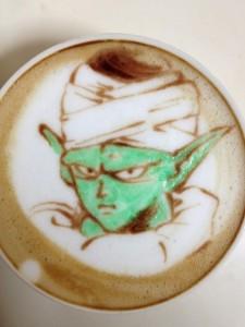 Un cappuccino fatto con la tecnica del art bar