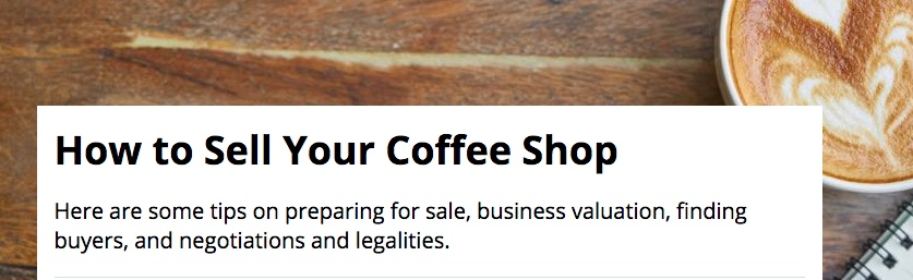 Come vendere un bar è argomento oggetto di blog anche negli Stati Uniti