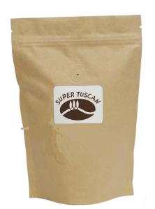 Il sacchetto da 250grammi del Super tuscan