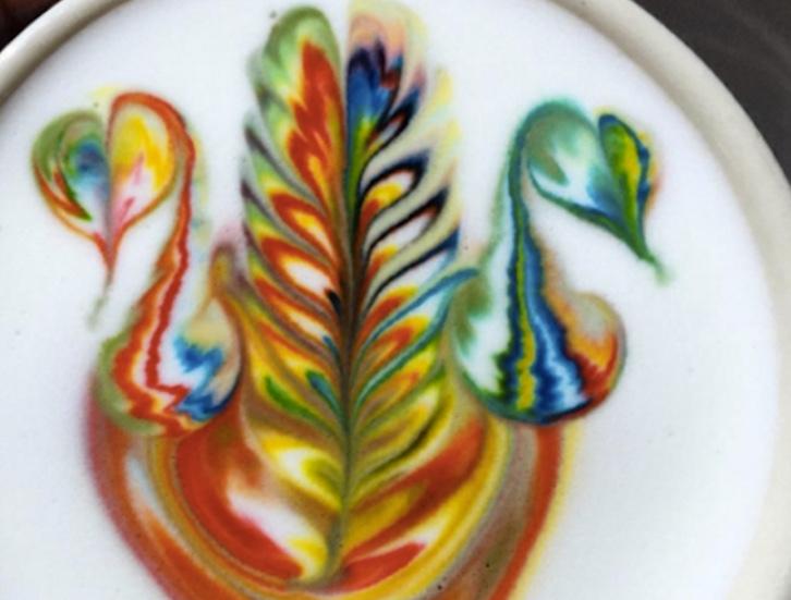 I cappuccini arcobaleno con i cigni...