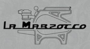 "The very famous logo of ""La Marzocco strada"""