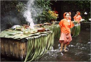 Il buffet, in acqua, del ristorante.