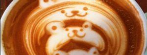 Un cappuccino pouring/etching con l'orsetto!
