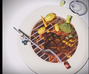 Il piccolo protagonista-chef che cucina nel nostro piatto...