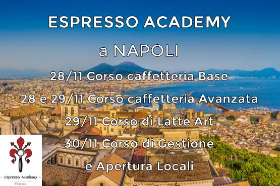 La nostra scuola di caffè all'ombra del Vesuvio. ecco le date dei prossimi corsi 2017 a Napoli!