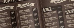 Il menù può essere un'importante strumento per incrementare gli incassi di un bar, vediamo come.