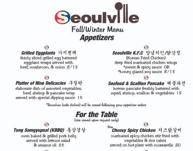 Un esempio di menù di ristorante con poche preparazioni è da seguire.