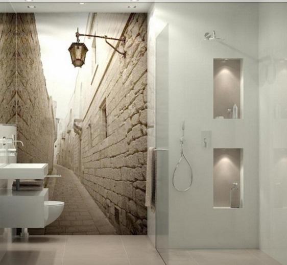 La strada in bagno...