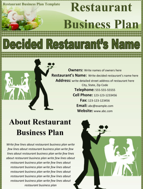 Download And Create Your Own Document With Bar Business Plan Template (89KB  | 10 Page(s)) For Free.