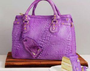 Perfino una borsa elegante-torta da mangiare...