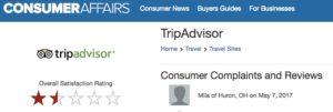 il sito Consumer Affairs da voti ai siti social, e da un pessimo voto a Trip Advisor...