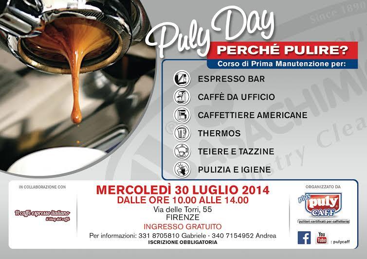EVENTO SPECIALE A FIRENZE SULLA PULIZIA DELLE MACCHINE DA CAFFE' AL BAR