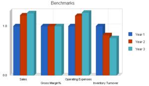 I grafici possono permettere di visualizzare meglio le valutazioni di un business plan