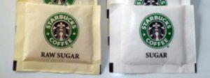 Una bustina di zucchero da bar